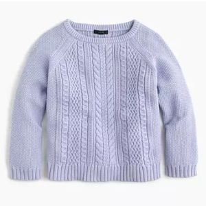 J. Crew Cotton Cable Crewneck Sweater